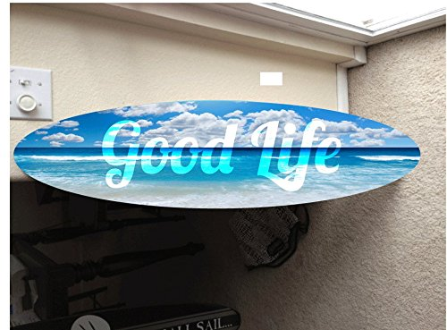 5' wall hanging surf board surfboard decor hawaiian beach surfing beach decor by Rad Grafix