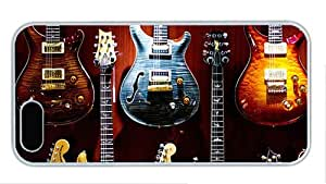 Hipster iphone 5 cover amazing electric guitars PC White for Apple iPhone 5/5S