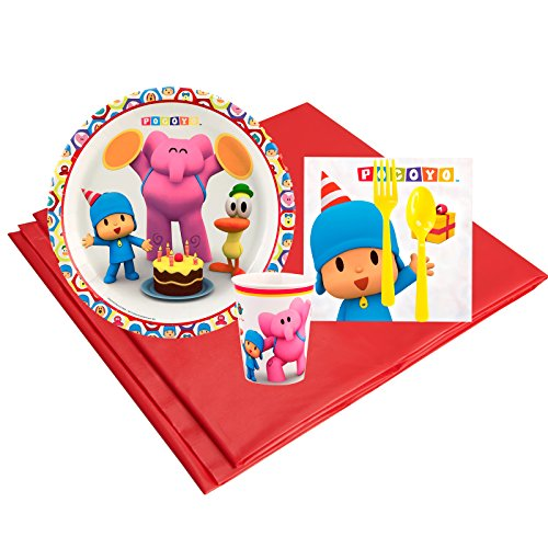 Pocoyo Childrens Birthday Party Supplies - Tableware Party Pack (8) -