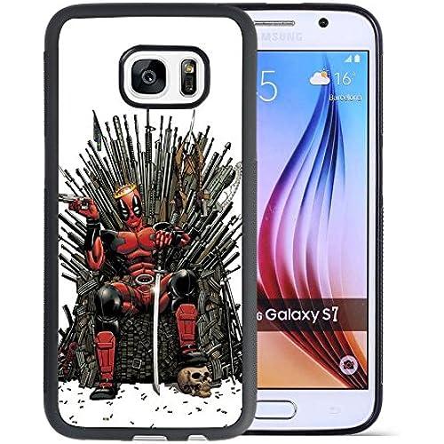 Samsung Galaxy S7 Case, Onelee Customized Deadpool [Anti Slip] Black TPU and PC Samsung Galaxy S7 Case, [Drop Protection] Deadpool Galaxy S7 Case Sales