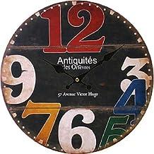 CXYY Unique Gift Antique Wall Clock Vintage MDF Wooden Wall Clock Big Size Home Decor Horloge Murale , 2