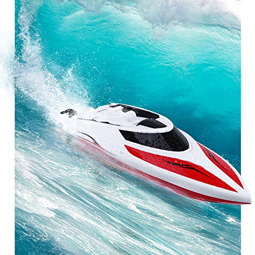 RC Boat for Pool and Lakes Use 25KM/H Remote Control Boats for Kids and Adults Racing Boat With Auto-Correct Direction