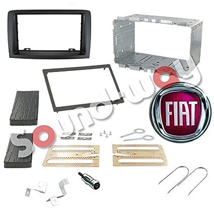 Sound-Way Kit de Montaje Marco para Radio Pantalla 2 DIN Adaptador para Fiat Idea//Lancia Musa 2DP-MUSA-DS