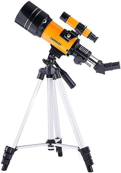 Ruirui Astronomisches Teleskop 300mm Brennweite 70mm Aperture Refractor Monocular Telescope 175x Linse Mit Stativ Mondfilter Nachtsicht Stargazing Garten