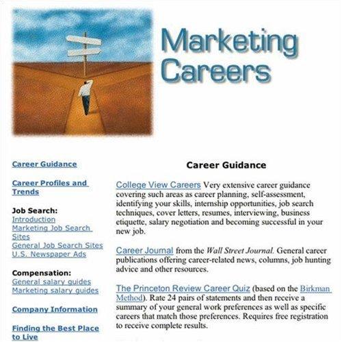 Marketing Careers: South-Western: 9780324231922: Amazon com