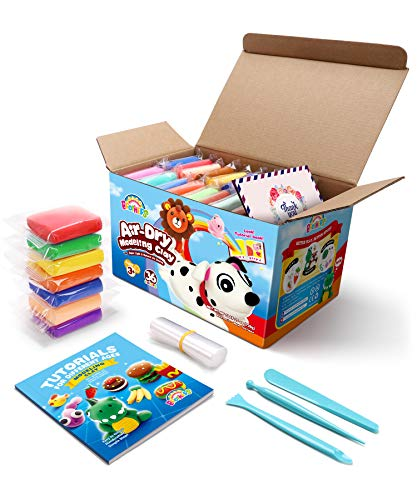 Sago Brothers Air Dry Clay, 36 Colors Modeling Clay for Kids, Molding Magic Clay for Slime add ins & Slime Supplies, Kids Gifts Art Set for Boys Girls