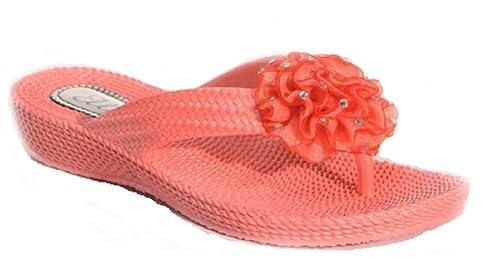 d11cb07d0db66 Womens Ladies Beach Summer Toe Post Flip Flop Flower Sandals Size UK 3 4 5  6 7 8  Amazon.co.uk  Shoes   Bags