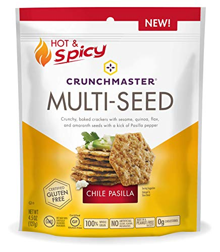 Crunchmaster Multi-Seed Crackers, Chile Pasilla, 4.5 oz.