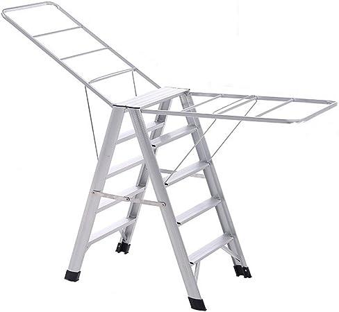 Compra Cqq rejilla de secado Racks de secado de doble uso multi-funcional de la casa escalera de la escalera plegable secado racks piso de secado racks en Amazon.es
