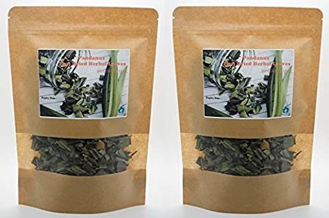 Pack of 2 x 20 G. Screw Pine Screwpine PANDANUS Thai Dried Herb Leaves Fragrant Pandan HEALTHY DRINK By - Silk Vanilla Extract