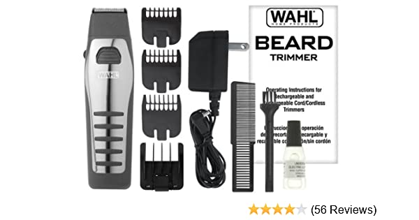Amazon Wahl 9876 536 Rechargeablecordless Beard Trimmer Beauty