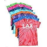 Lacrosse Tie Dye T-Shirt - LAX Play Tough Get Dirty Logo