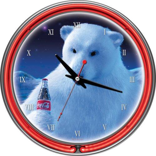 coca cola polar bear clock - 8