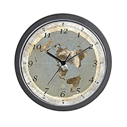 CafePress Flat Earth Large Unique Decorative 10 Wall Clock