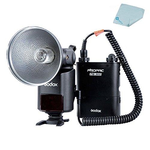 Mcoplus Godox AD360 360WS High Power External Portable Flash Speedlite with PB960 Lithium Battery Pack +Mcoplus cloth by Mcoplus
