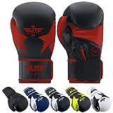 Elite Sports Boxing Gloves for Men and Women, Women and Men Kickboxing Gloves