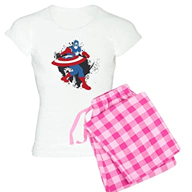 5f59caa2e6 Image Unavailable. Image not available for. Color  CafePress Captain America  Minimalist Womens Novelty Cotton Pajama Set