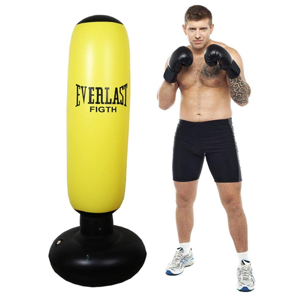 Ridecyle Saco de Boxeo Inflable de la Aptitud, Saco de Boxeo de la Columna del Boxeo Saco de Boxeo Fuerte Bastante Fuerte para el Entrenamiento de MMA, del Karate o de Kung Fu
