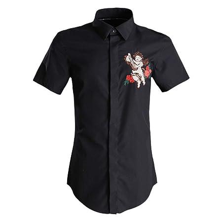 Camisa Hawaiana de Manga Corta Camisa de vestir de manga corta ...