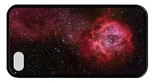 Hipster custom iPhone 4 cases rosette nebula TPU Black for Apple iPhone 4/4S