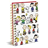 Graphique Peanuts Gang Hard Cover Journal w/Charles Shultz's Beloved Peanuts Characters, Fun, Durable Notebook for Notes, Lists, Recipes, and More, 160 Ruled Pages, 6.25'' x 8.25'' x 1''
