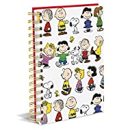 """Graphique Peanuts Gang Hard Cover Journal w/Charles Shultz's Beloved Peanuts Characters, Fun, Durable Notebook for Notes, Lists, Recipes, and More, 160 Ruled Pages, 6.25"""" x 8.25"""" x 1"""""""