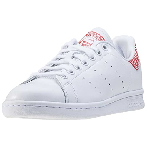 best sneakers d1364 627d3 adidas Stan Smith Womens Trainers White Red - 9 UK: Amazon ...