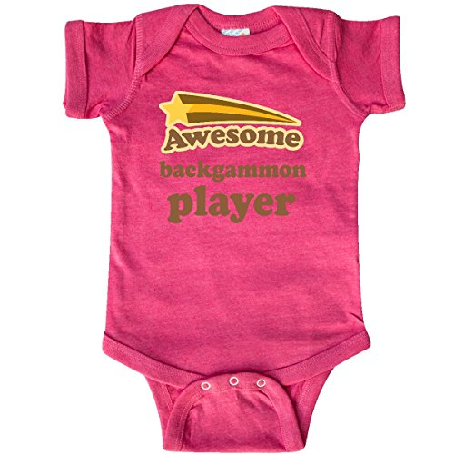 inktastic - Backgammon Player Infant Creeper Newborn Retro Heather Pink 205e3 ()