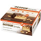 Detour Simple Caramel Peanut Whey Protein Bar, 60 Gram -- 48 per case.