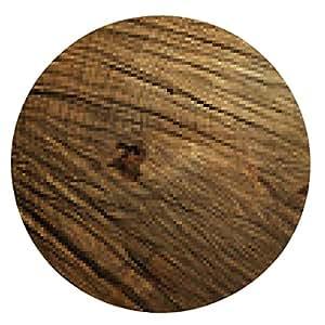 alfombrilla de ratón fondo de madera oscura - ronda - 20cm