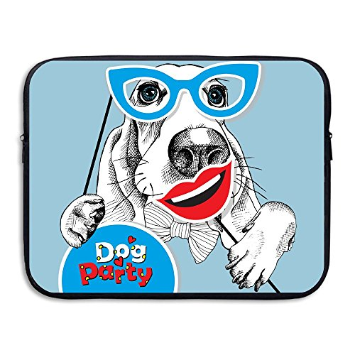 Reteone Laptop Sleeve Bag Cute Make Up Dog Cover Computer Liner Package Protective Case Waterproof Computer Portable Bags -