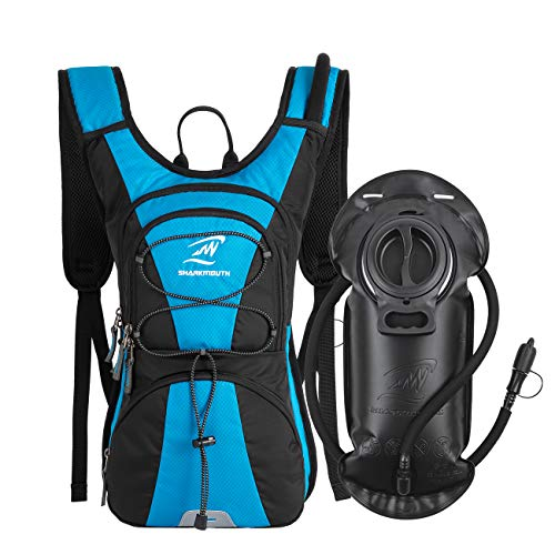 SHARKMOUTH FLYHIKER Hiking Hydration Backpack Pack with 2.5L BPA Free Water Bladder, Lightweight and Comfortable for Short Day Hikes, Day Trips and Trails, - Bag System Hydration