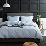 4 Piece Duvet Cover Set Duvet Cover with 2 Pillow Shams Soft and Durable,Spa Blue Full/Queen
