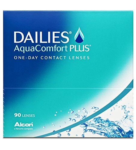 Alcon Ciba Vision Dailies Aquacomfort Plus Tageslinsen weich, 90 Stück / BC 8.7 mm / DIA 14 / -3.5 Dioptrien