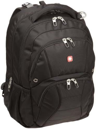 SwissGear SA1908 Black TSA Friendly ScanSmart Laptop Computer Backpack  - Fits Most 17 Inch Laptops and Tablets (1908215)