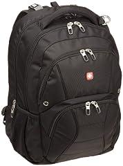SwissGear SA1908 Black TSA Friendly ScanSmart Laptop Computer Backpack - Fits Most 17 Inch Laptops and Tablets