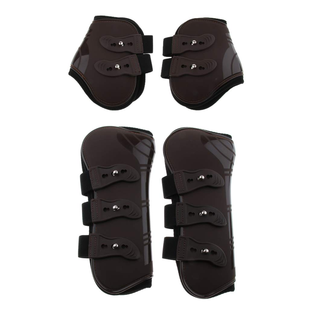 Prettyia Pony Horse Leg Boots Hind Front Leg Tendon Predect Support Wraps Adjustable Belt Cover