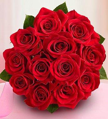 Amazon Com Valentine S Day 1 800 Flowers One Dozen Red Roses