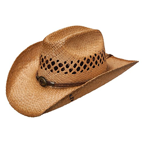 Stetson OSBGRV Men's Big River Straw Hat, Sweated - ()