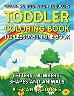 coloring books for toddlers 100 images of letters numbers shapes and key - Color Books For Toddlers