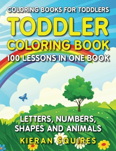 100 LESSONS IN ONE BOOK | Includes 100 Unique Images Entertain and educate your little ones with this toddler coloring book. Every one of the easy-to-color images has been specially designed for children ages 1-3. With 100 unique images, ther...