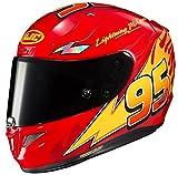 HJC Unisex-Adult Full-face-Helmet-Style RPHA-11 Pro PIXAR CARS Lightning McQueen (MC-1, Large)