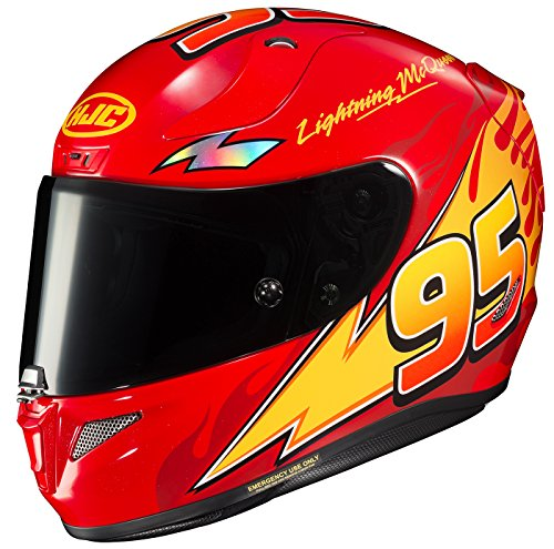 HJC Unisex-Adult Full-face-Helmet-Style RPHA-11 Pro PIXAR CARS Lightning McQueen (MC-1, Medium) (Best Pro Touring Cars)