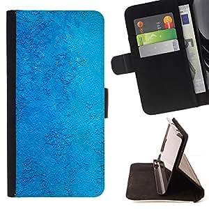 Bright Blue Plaster Wall Texture - Modelo colorido cuero de la carpeta del tirón del caso cubierta piel Holster Funda protecció Para Samsung Galaxy Note 5 5th N9200