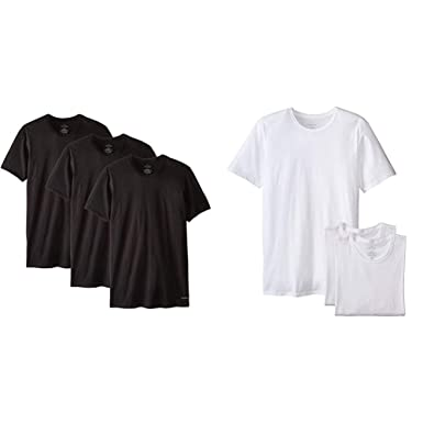 4141a69d7e7 Calvin Klein Men's Cotton Classics Slim Fit 3 Pack Crew Neck Tshirts