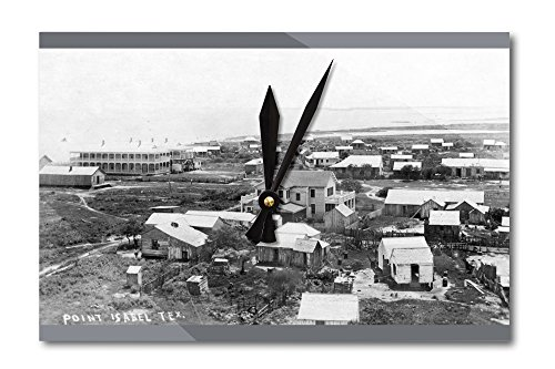 Port Isabel, Texas - General View of Town Photograph (Acrylic Wall Clock)