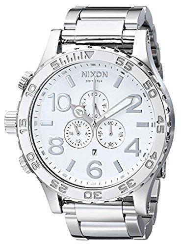 NIXON wristwatch 51-30 CHRONO skin tea one Thirty Chrono HIGH POLISH / WHITE NA083488-00 Men's
