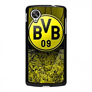 Hard Plastic Bvb--Borussia Dortmund Case Carrrier For Google Nexus 5,Customized Google Nexus 5 Funda