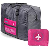 BOGZON Waterproof Nylon Foldaway Luggage For Travel,Campimg,Sports,Red