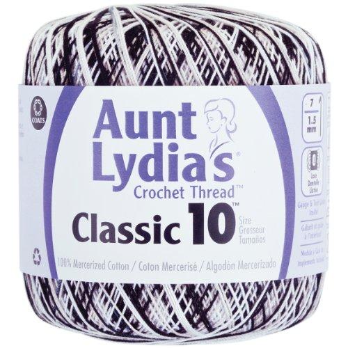 Brand New Aunt Lydia's Classic Crochet Thread Size 10-Zebra Brand New (300 Thread Zebra)